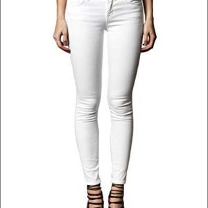 J Brand Mid Rise Super Skinny Jeans White 29